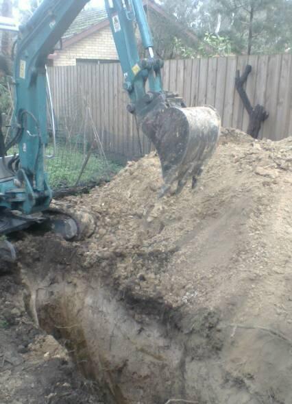Outdoor Drain Excavations