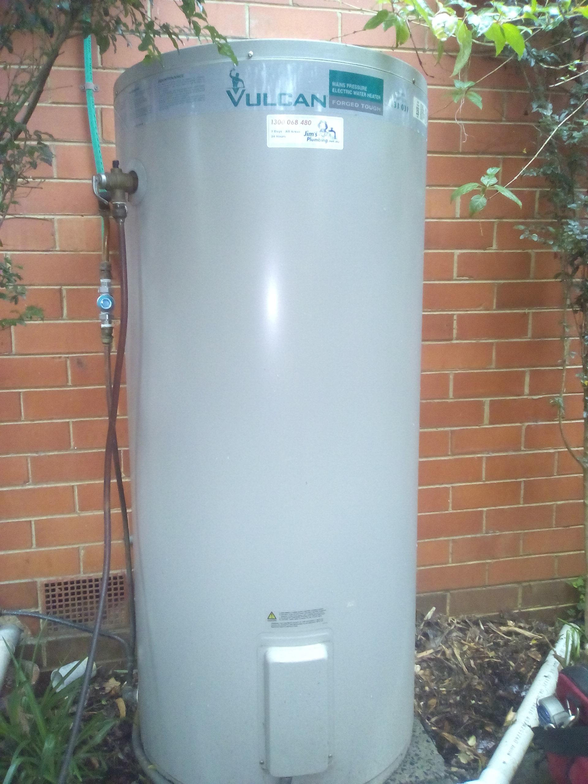 Vulcan 250L Electric Storage Hot Water Tank Electrical Meter Board ...