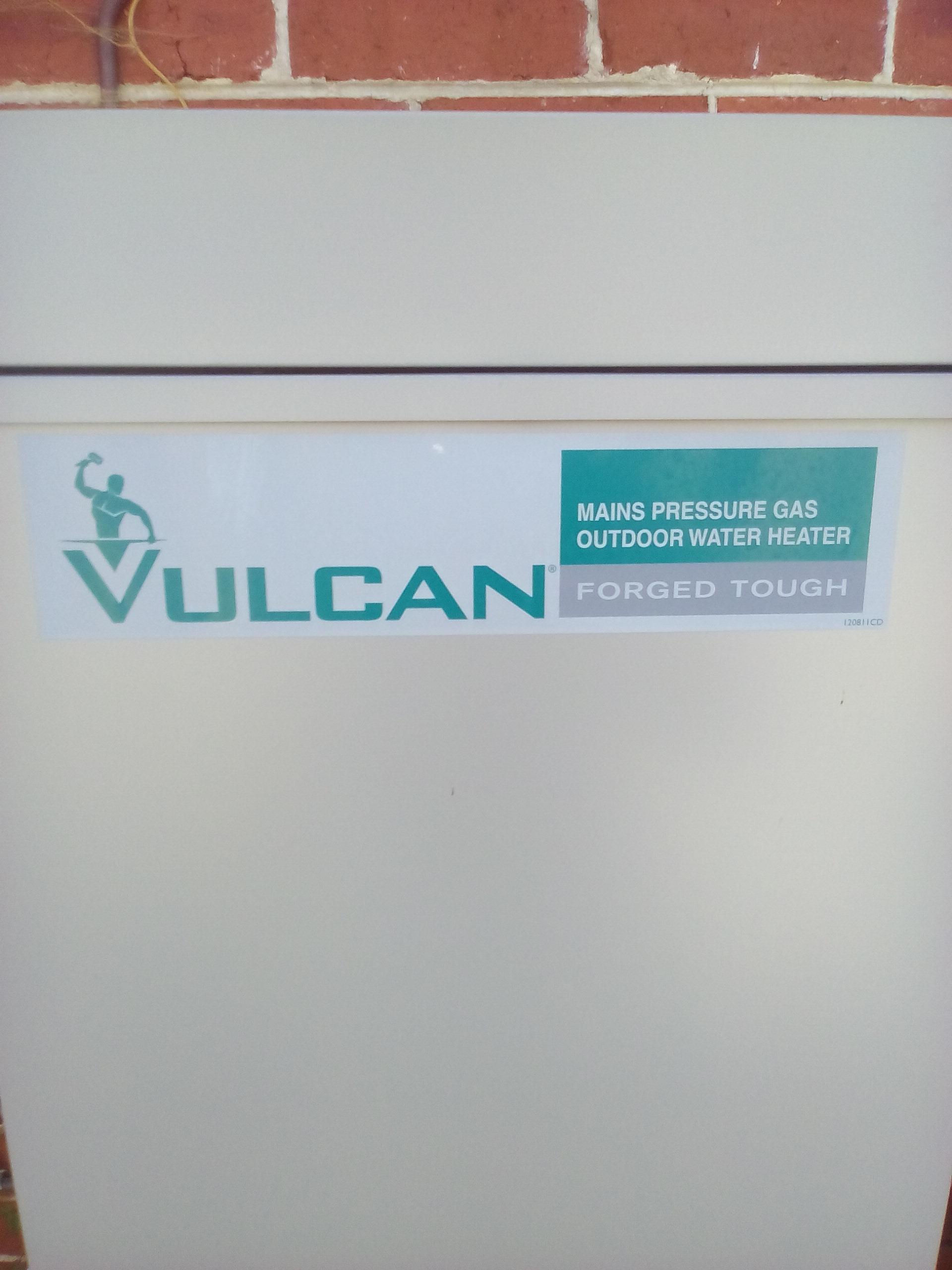 Replace Vulcan Mains Pressure 135L Gas Hot Water System - Jim\'s Plumbing