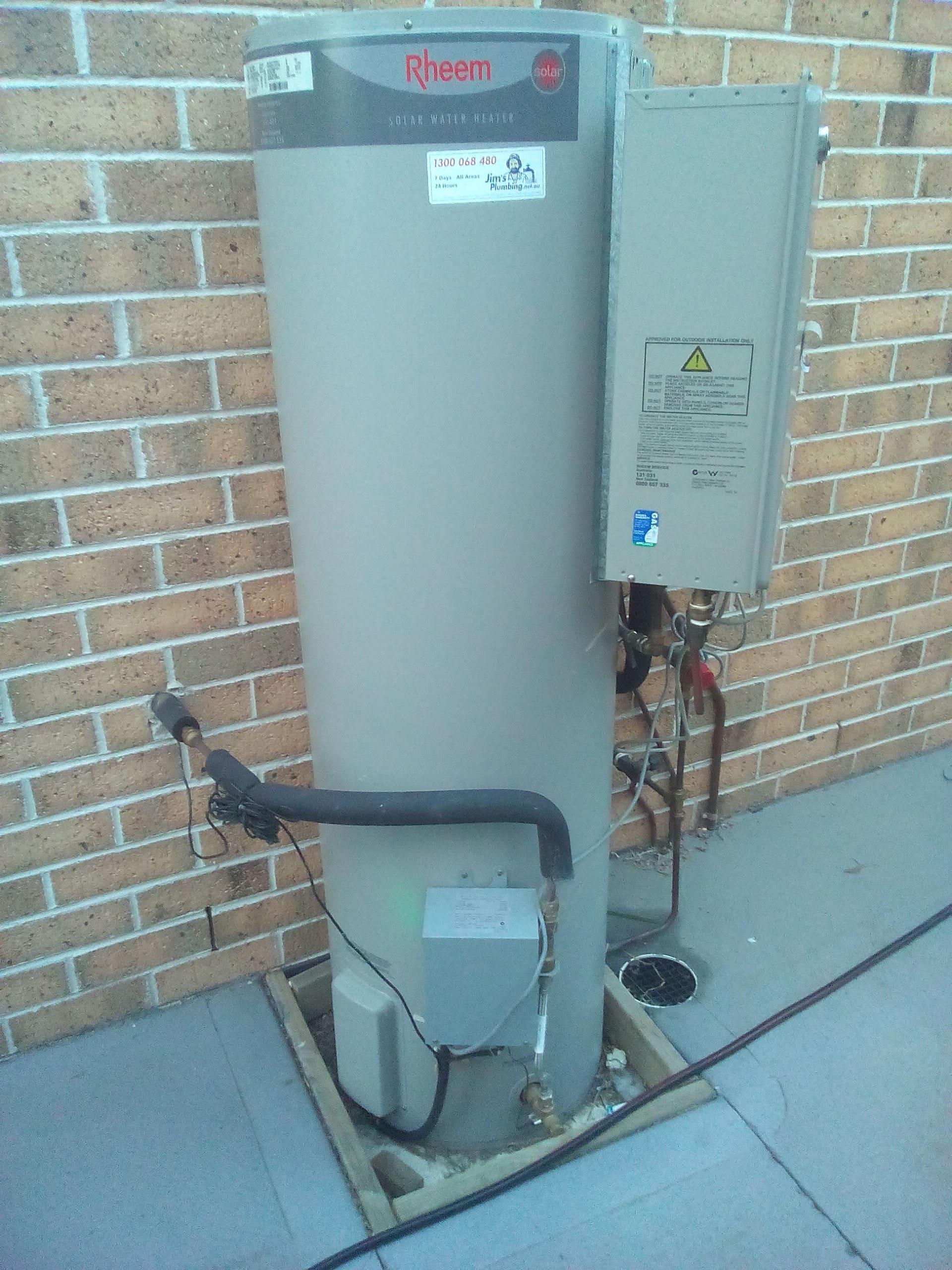 Rheem Solar 160l Hot Water Service Jim S Plumbing