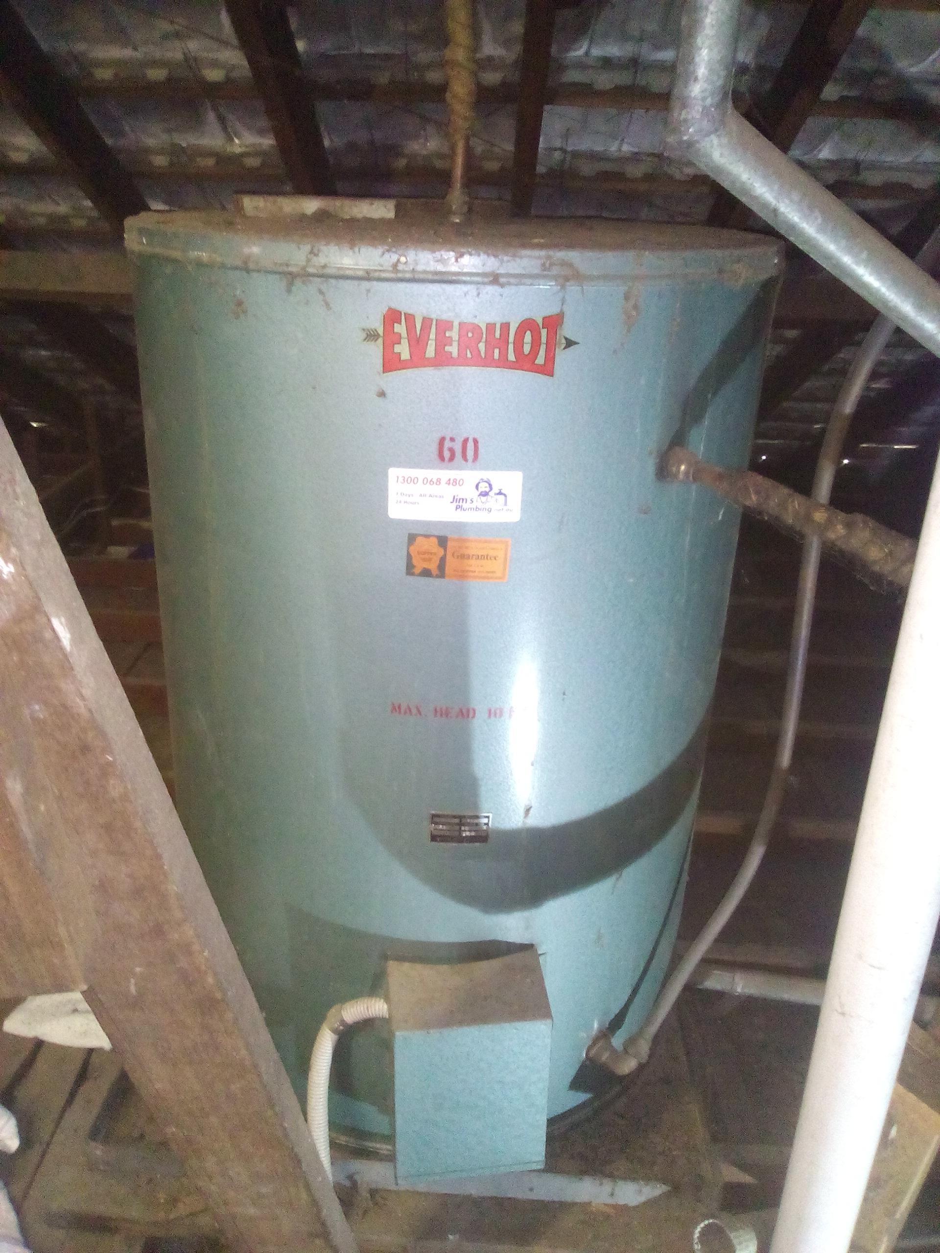 Gravity Fed Everhot Electric Internal 60 Litre Hot
