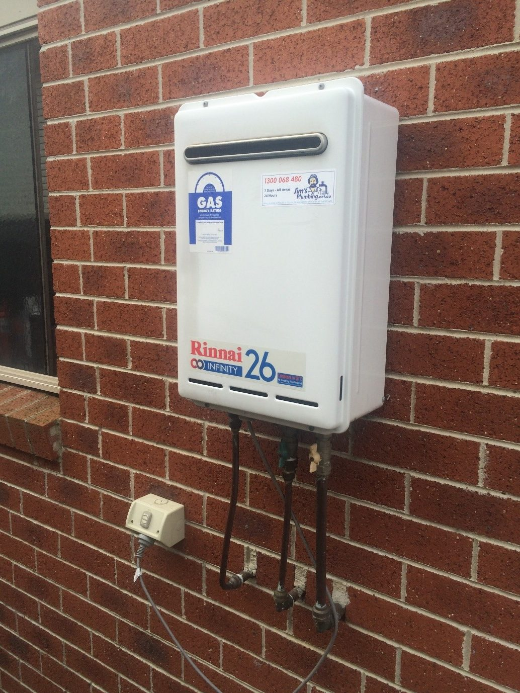 Old Rinnai Infinity 26 And New Rheem Loline 160 Litre