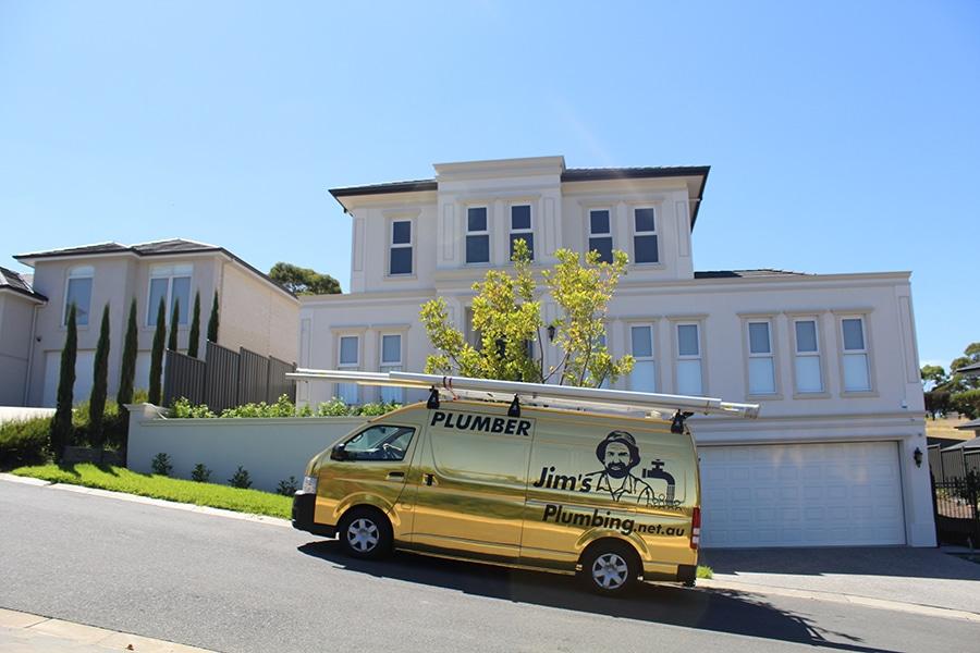 Gold Plumbing Van