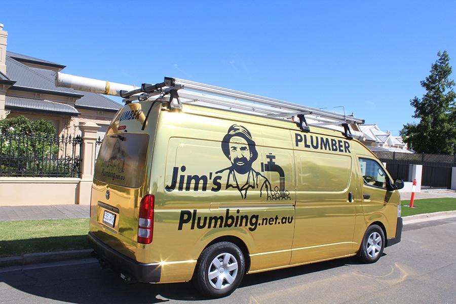 b05639e7fbb769 Jim s Plumbing Gold Van - Jim s Plumbing